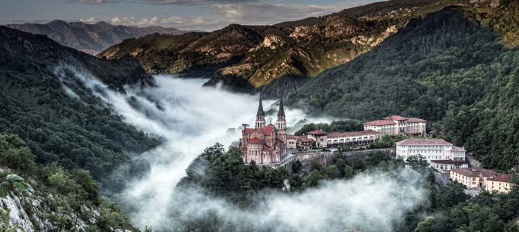 The sanctuary and the Holy Cave of Covadonga